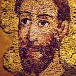 An eighth century mosaic of the apostle Paul