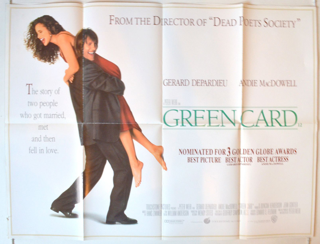Green Card (1990) - Green Card Images, Pictures, Photos, Icons and  Wallpapers: Ravepad - the place to rave about anything and everything!