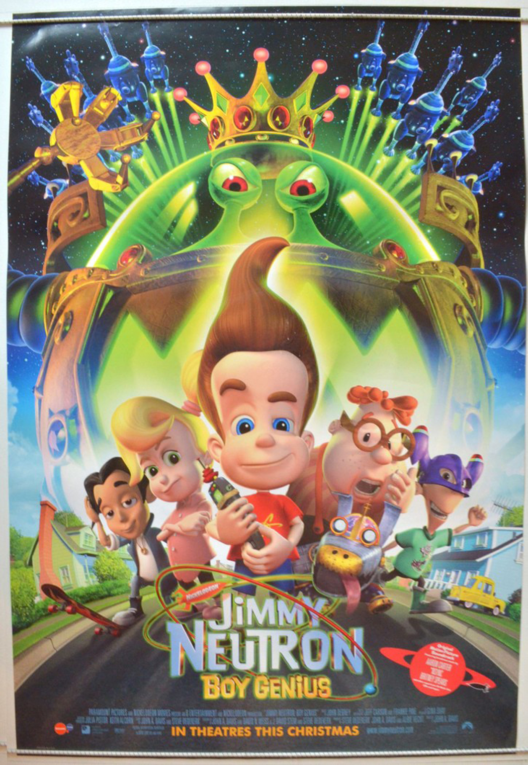 Jimmy Neutron Boy Genius Original Cinema Movie Poster