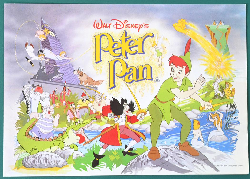 Peter Pan 1980 Re Release Original 8 Page Cinema