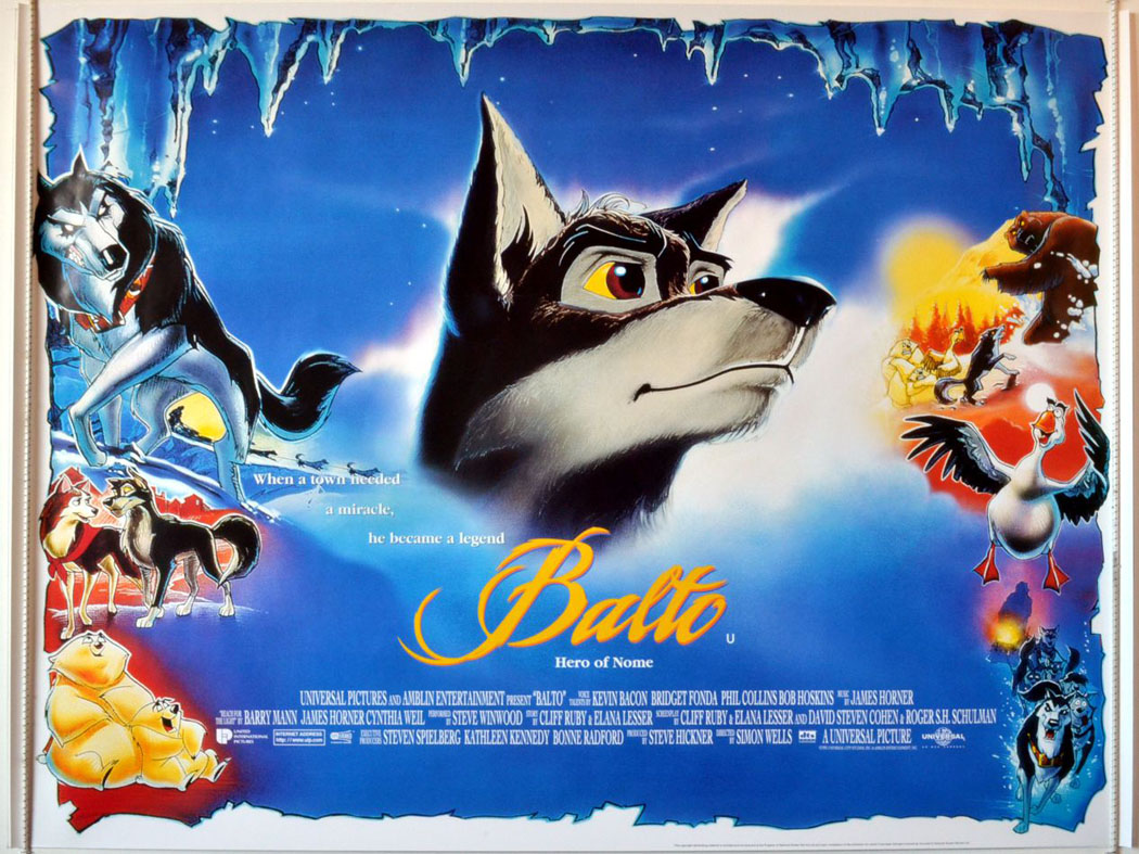 Image result for balto movie poster