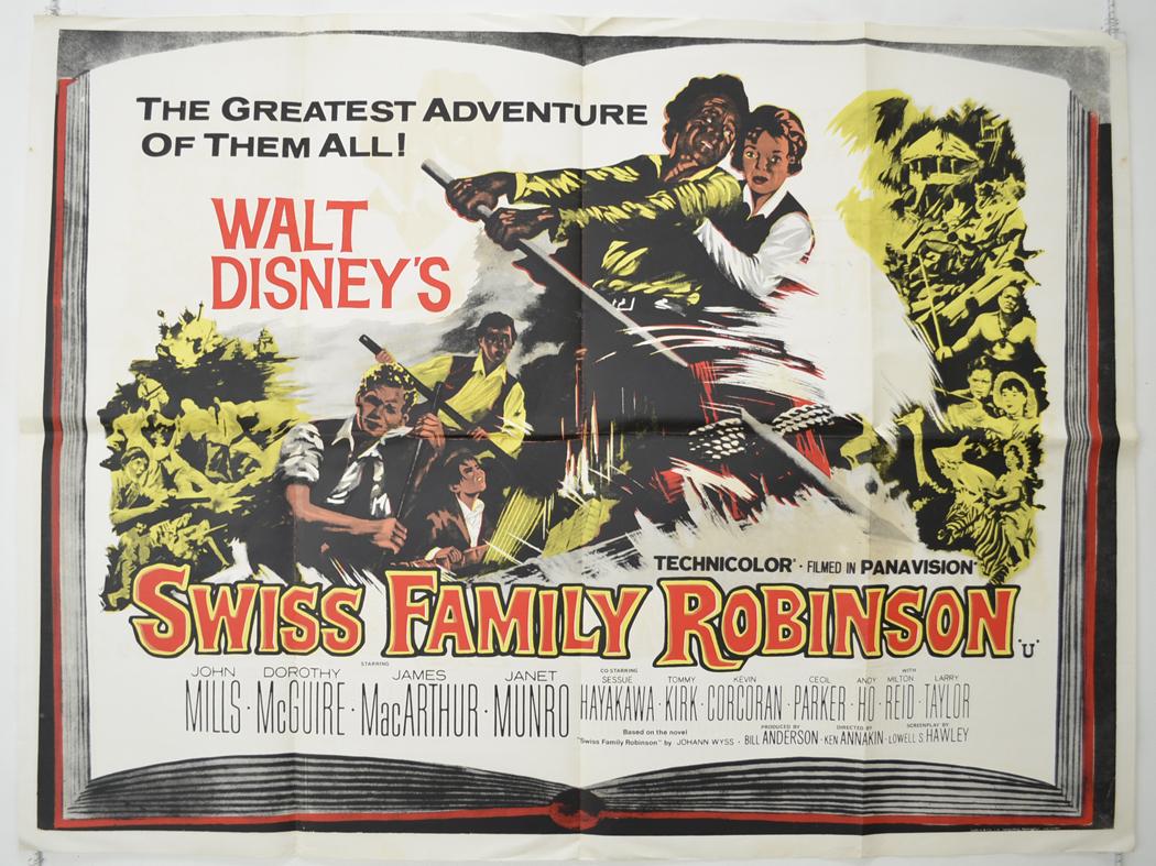 Swiss Family Robinson Original Quad Movie Poster 3