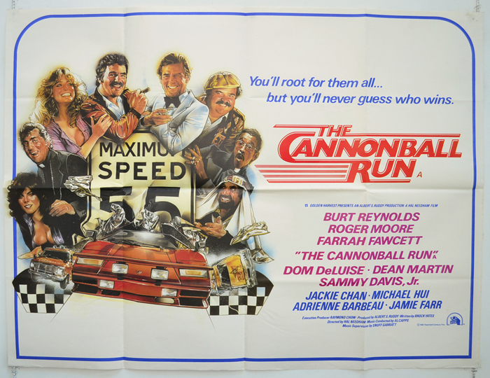 Image result for The Cannonball Run poster