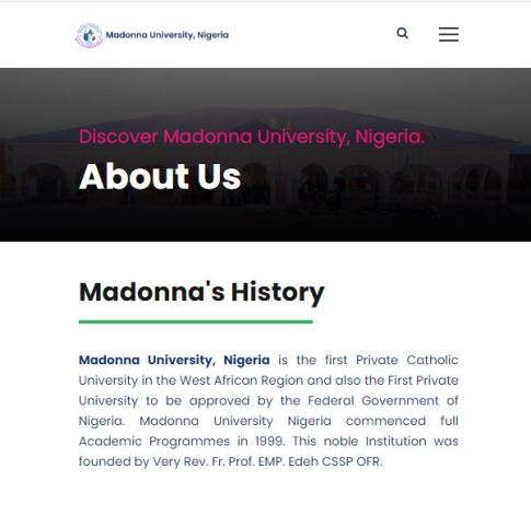 Madonna University Cut-Off Mark
