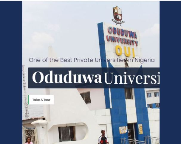 Oduduwa University Post UTME Past Questions and Answers
