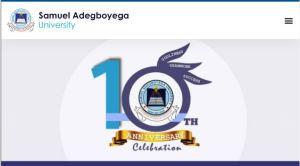 Samuel Adegboyega University Post UTME Past Questions and Answers