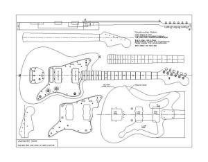 Planos Fender 62 Jazzmaster | Pastrana Guitars