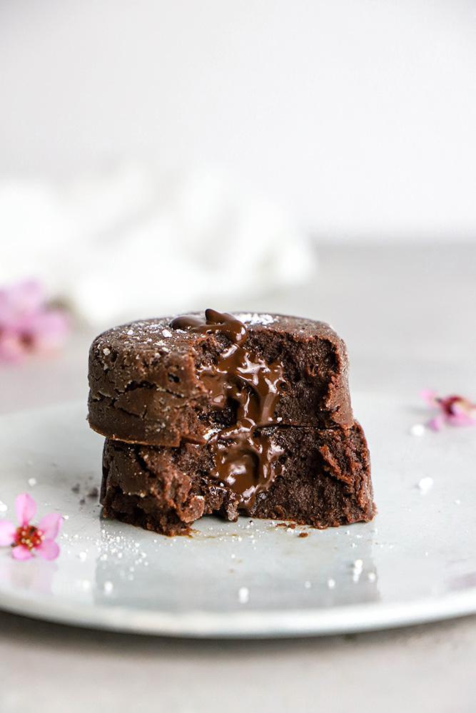 fondant chocolat coeur coulant vegan