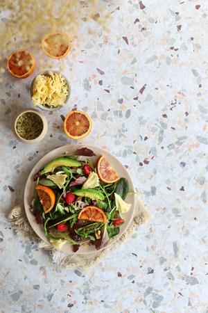 fondphoto terrazzo mosaique photo culinaire
