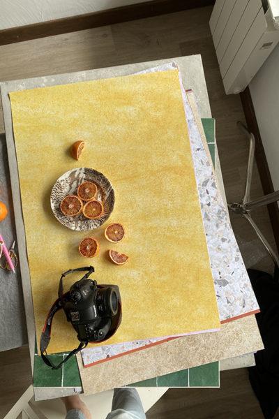 backstage des fonds photo en action, photo culinaire