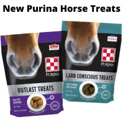 Purina Carb Conscious & Outlast Horse Treats at Pasturas Los Alazanes.