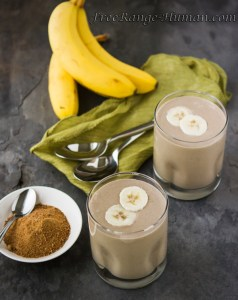 Carmelized Banana Milkshake