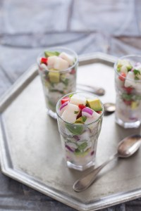 Review: Slim Palate Cookbook | Avocado Lime Scallop Ceviche