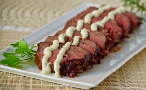 Oven Roasted Tender Medallions with Rosemary Horseradish Mayo