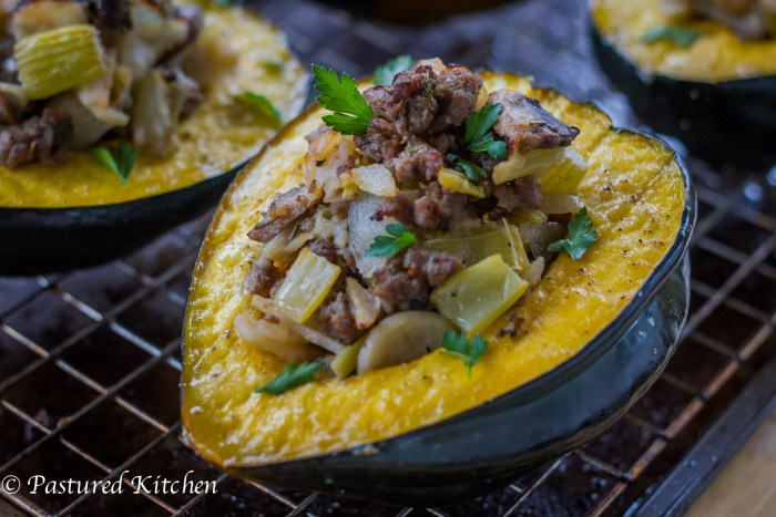 Wild Boar Stuffed Squash-3