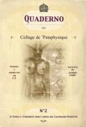 Copertina del numero due del Quaderno - Collage de 'Pataphysique