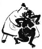Un'altra illustrazione di Pierre Bonnard tratta dall'Almanacco di padre Ubu