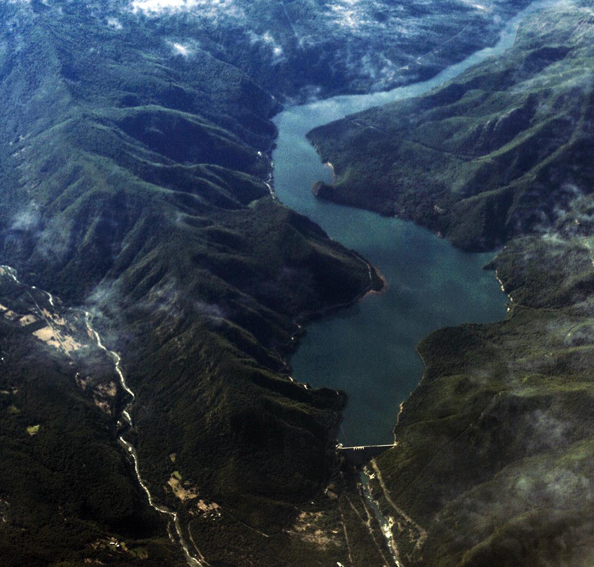 Represa Pangue, en el río Bío Bío. Foto: Álvaro Maurín