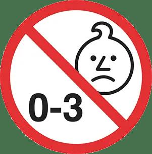 interdit aux moins de 3 ans