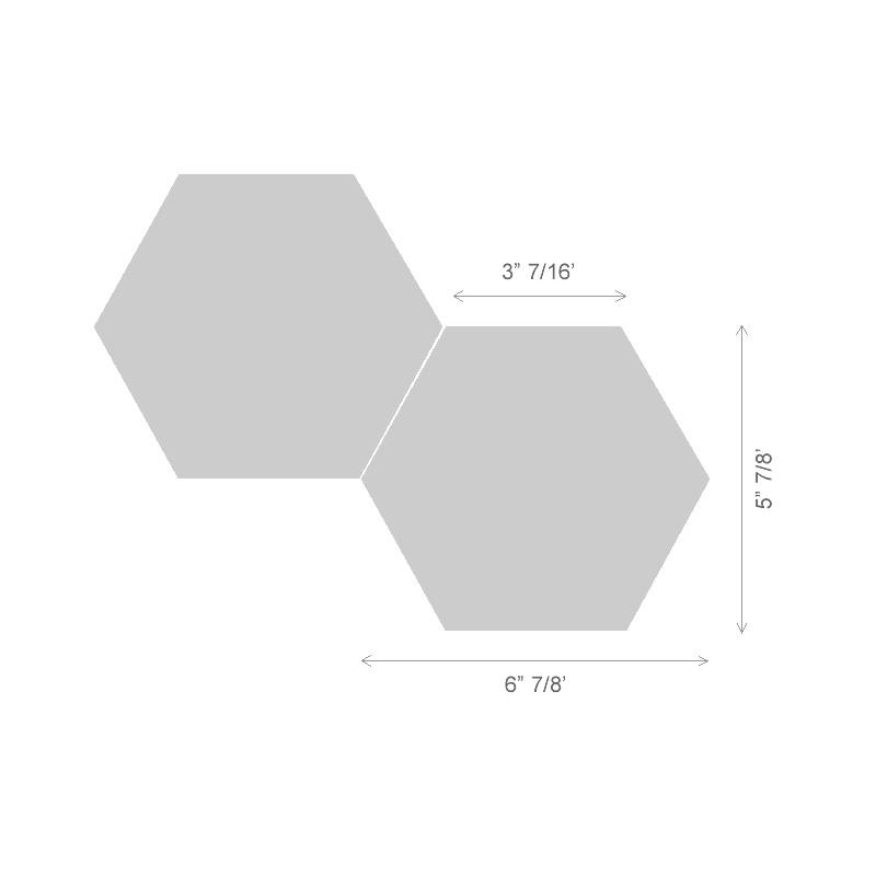 carrara white polished 6 inch hexagon