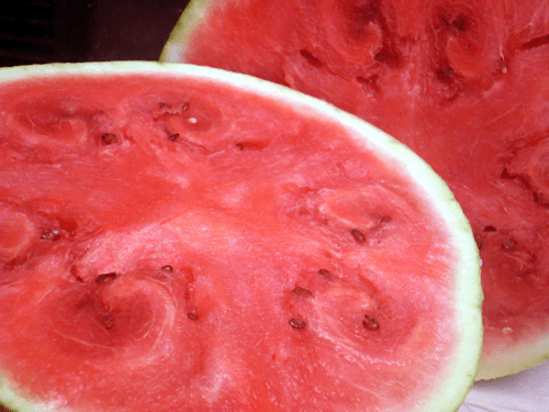 image of sliced, ripe watermelon