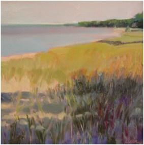 """""""Beach Shadows"""" Oil 12"""" X 12"""", Blue Heron Gallery"""