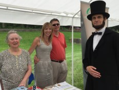 Manning the book table with Abe Lincoln