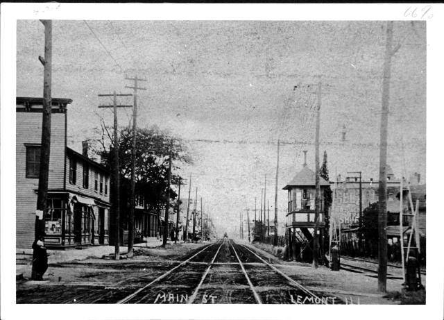 Lemont's Main Street, ca 1913 Photo courtesy of Lemont Area Historical Society