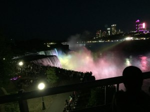 Today you can catch a light show at Niagara Falls. Author's Photo.
