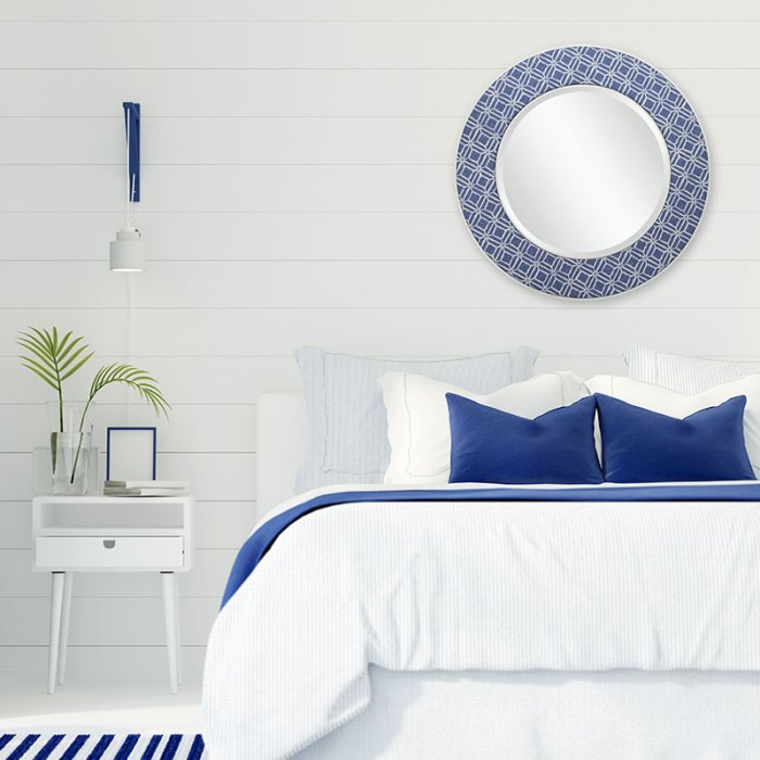 Patch & Co. Mirrors - Imogen in Blue - Bedroom Square