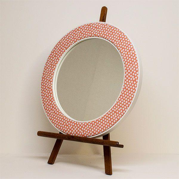 Photo of the Maggie Orange Spotty Mirror