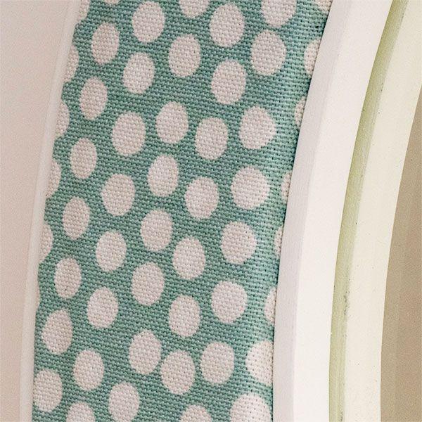 The Maggie Spotty Fabric Close Up - Seafoam