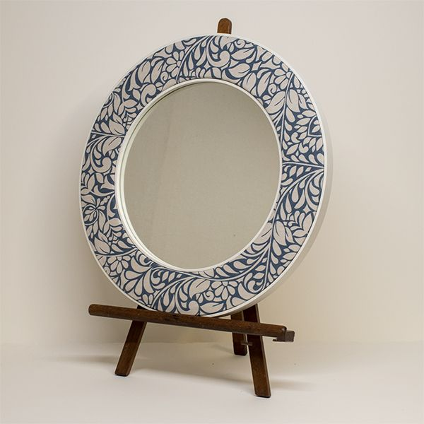 Alison Floral Patterned Mirror on Easel