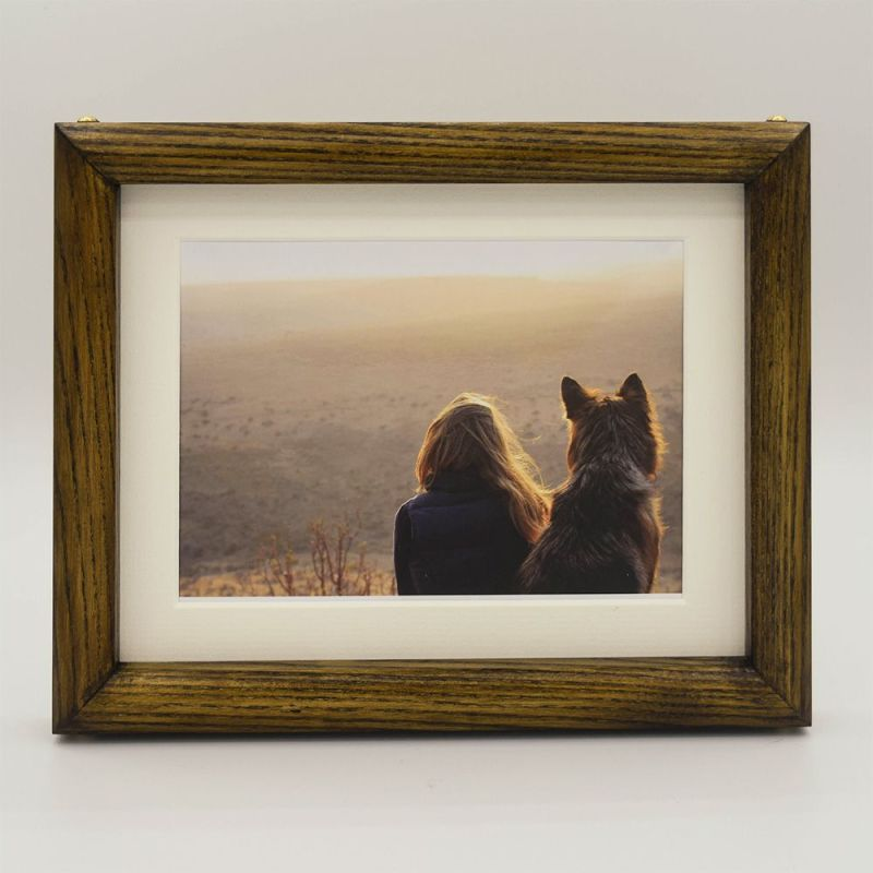 The Dave Stained Wood Photo Frame with Photo and Mount