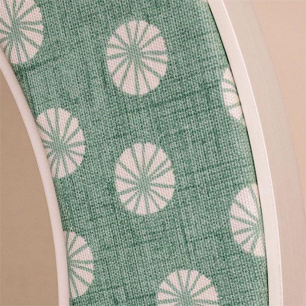 The Octavia Aqua Contemporary Fabric in Aqua