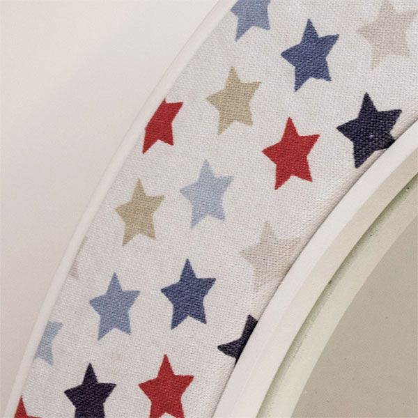 Oliver Mirror Close up with Blue and Red Stars