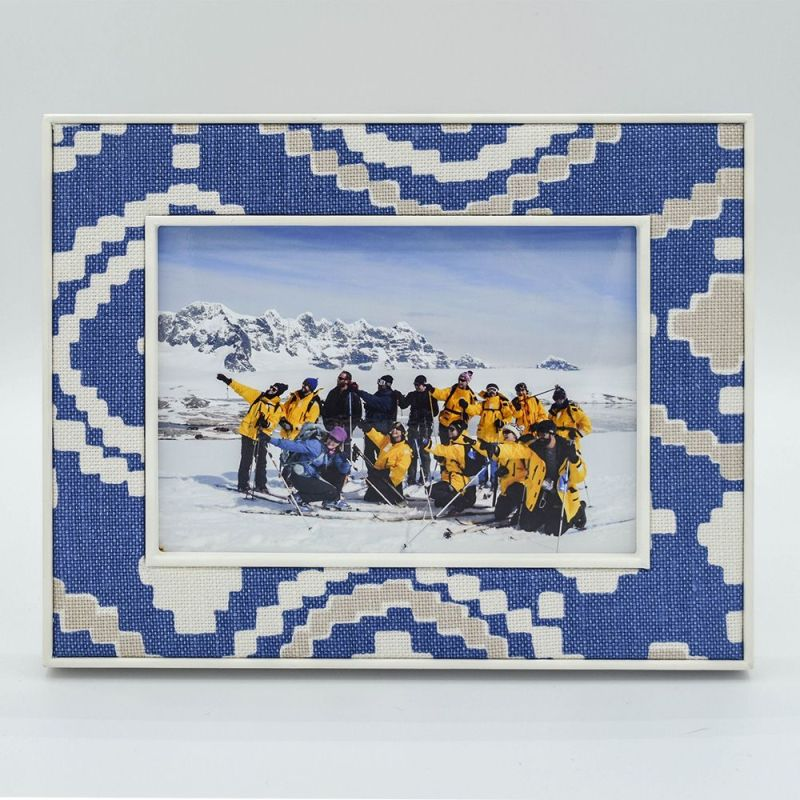 Patch Blue Photo Frame in 7 x 5 with Photo