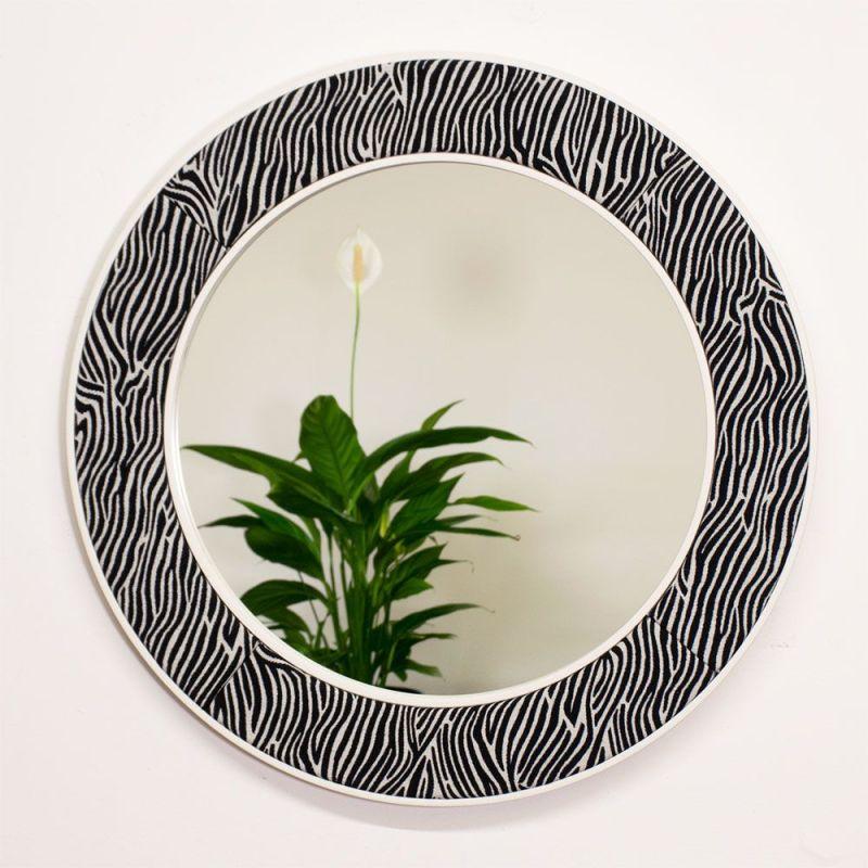 The Lewa Zebra Print Mirror