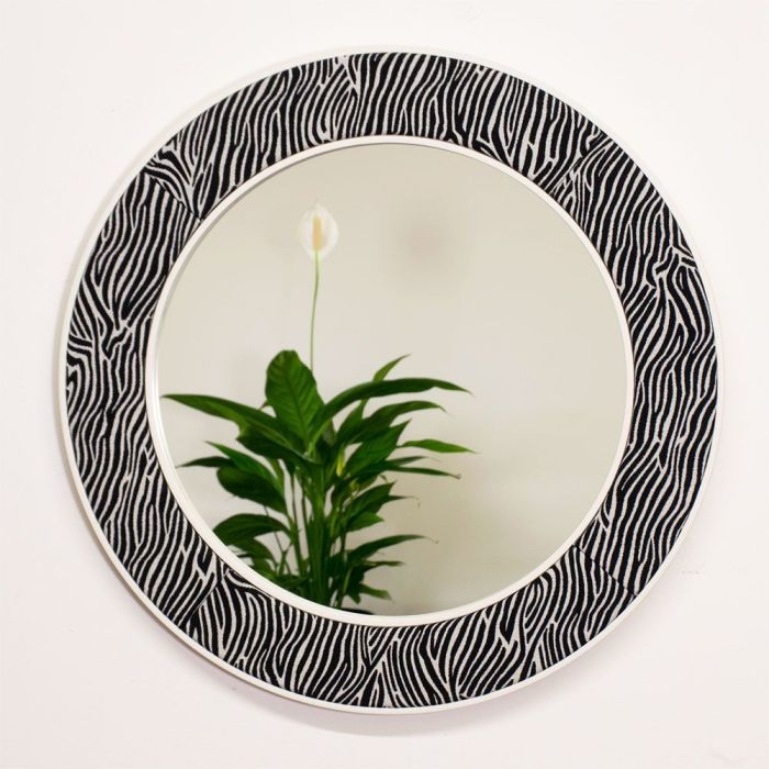 The Lewa Zebra Print Mirror