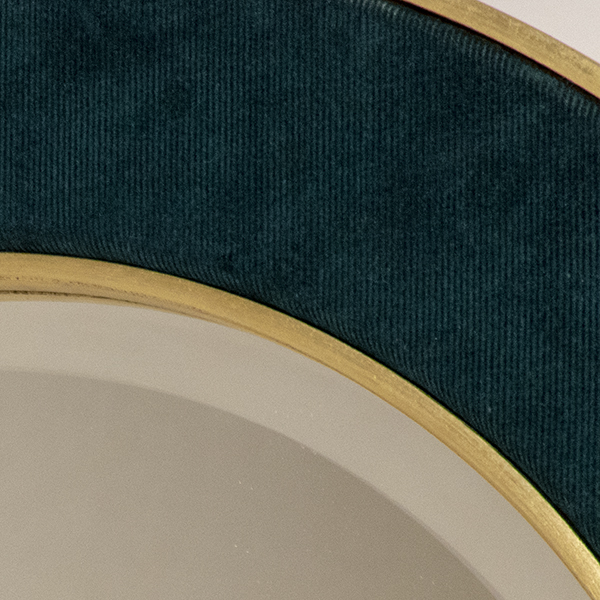 Patrick Mirror in Dark Teal with a Bevel Mirror