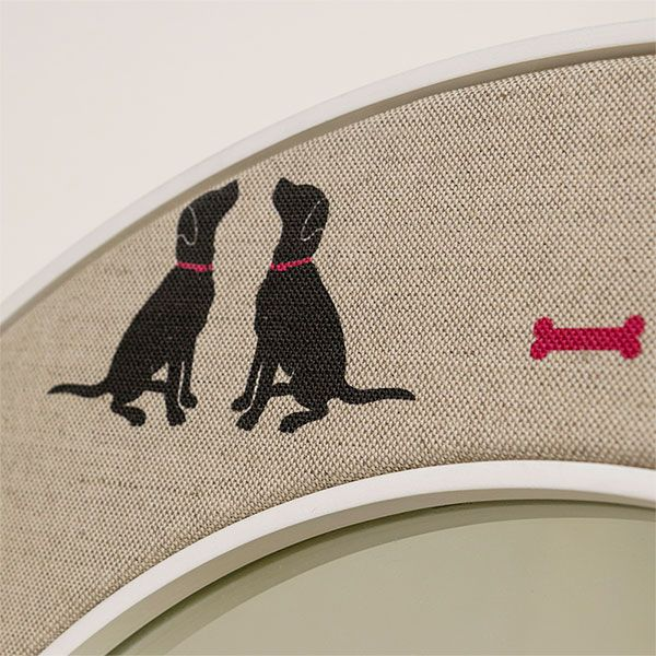 Close up of the Labrador Fabric from Olive + Daisy - Dog Fabric