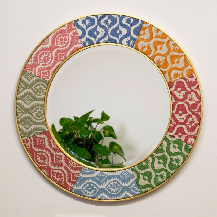 Photo of a sample Mirror made using Blithfield Fabrics