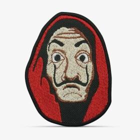 Patch Bordado Máscara Salvador Dali, série La Casa de Papel, com termocolante 6,4x8,5cm PATCH GANG