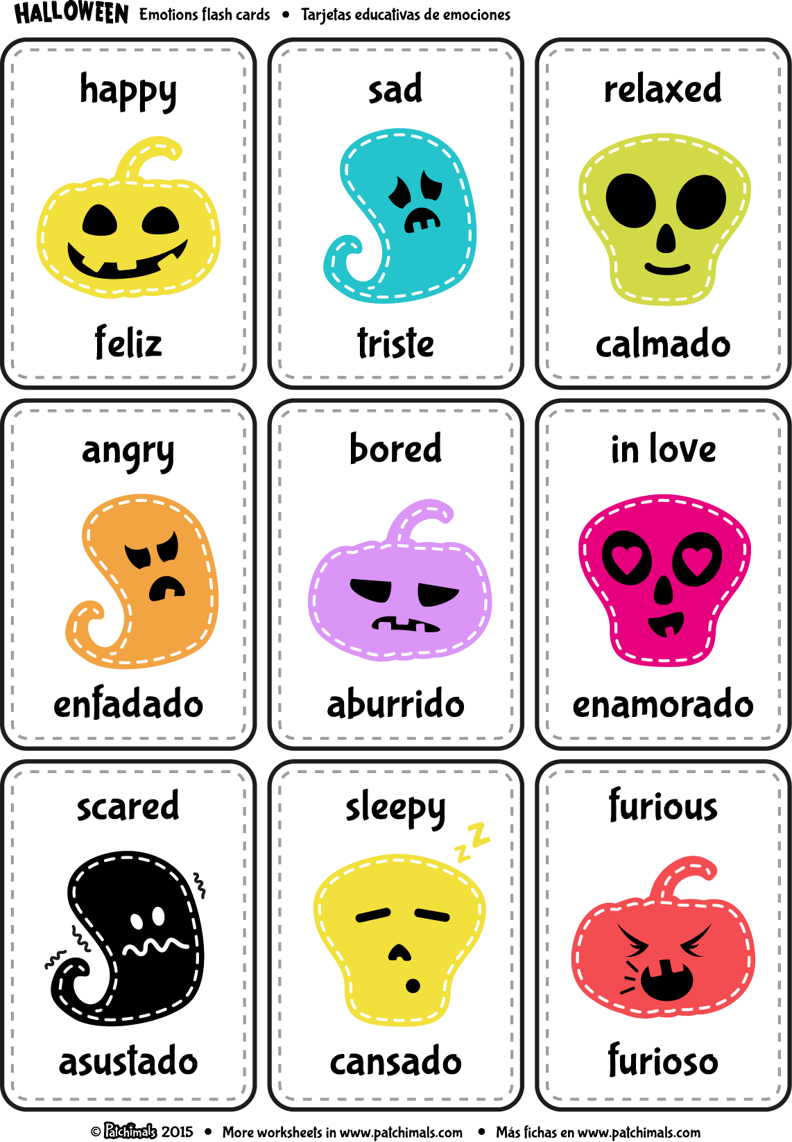 Print And Cut The Flash Cards To Learn About Emotions In