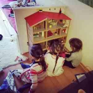 Besuch Puppenhaus