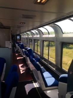 Train observation car.