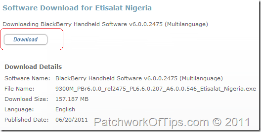 Download BlackBerry OS 6.0 for your BlackBerry Phone