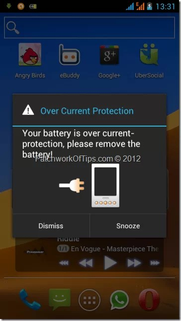Android ICS - Over Current Protection Error