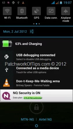 Android VLC Player In Notification Tray