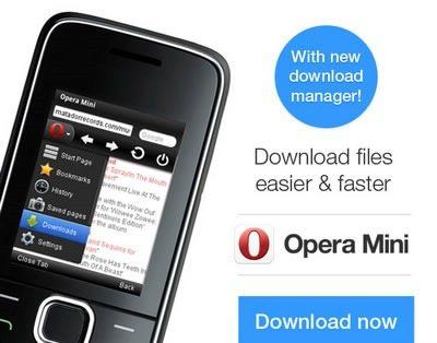 Resume Downloads In Opera Mini 7